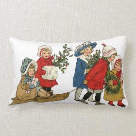Christmas kids throw pillow