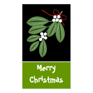 Christmas Kiss Gift Tag-Business Cards Double-Sided Standard Business Cards (Pack Of 100)
