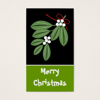 Christmas Kiss Gift Tag-Business Cards
