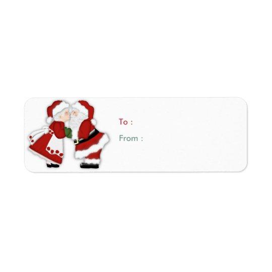 Christmas Kiss Label