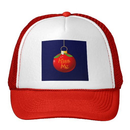 Christmas Kiss Me Cap Trucker Hat