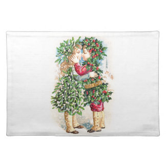 Christmas Kiss Cloth Placemat