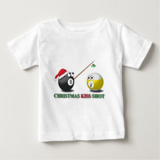 Christmas Kiss Shot infant wear Baby T-Shirt