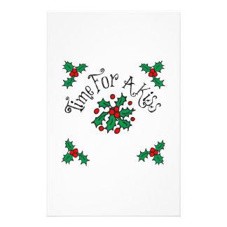 Christmas Kiss Stationery