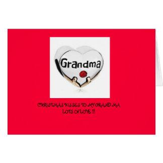 CHRISTMAS KISSES TO GRANDMA GREETING CARD