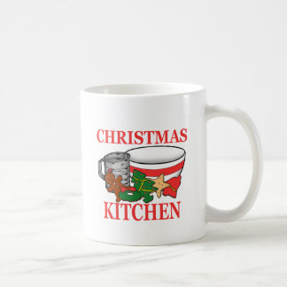 christmas kitchen coffee mug