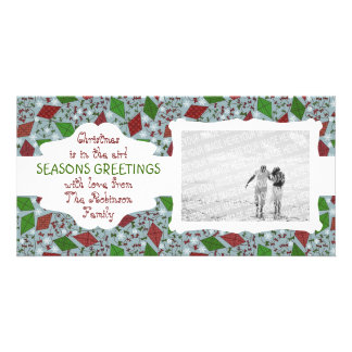 Christmas Kites, customizable photocard Card