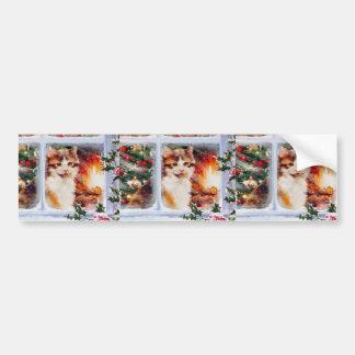 Christmas Kitten Bumper Sticker