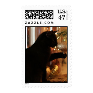 Christmas Kitten Postage Stamps