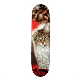 Christmas Kitten Skateboard Deck