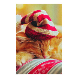 Christmas Kitten Stationery