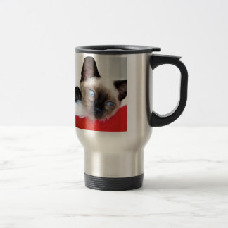 Christmas Kitten Travel Mug