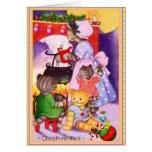 Christmas Kittens Cook for Santa Greeting Card