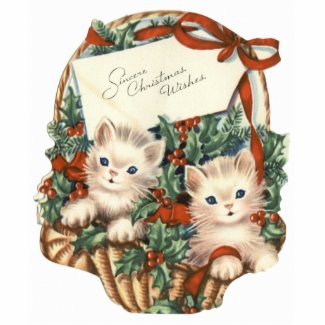 Christmas Kittens in a Basket