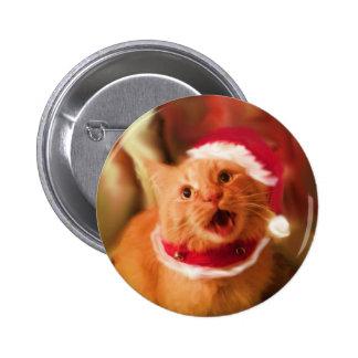 Christmas Kitties 1 Pinback Button