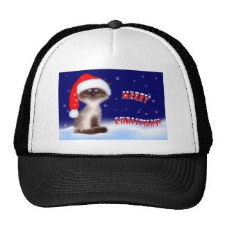 Christmas Kitty Baseball Cap Trucker Hat