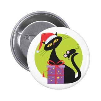 Christmas Kitty Pins