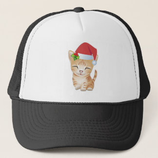 Christmas Kitty Cat Gift Baseball Hat