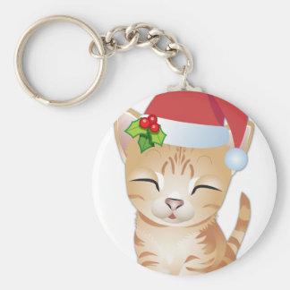 Christmas Kitty Cat Gift Key Chain 2