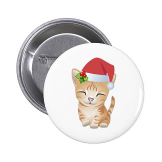 Christmas Kitty Cat Gift Pin Brooch