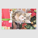 Christmas - Kitty Cat - Monki Rectangle Stickers