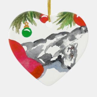 Christmas Kitty Cat Tree Decorations Holiday Heart Ornaments