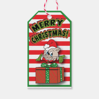 Christmas Kitty Cat with Present Gift Tags