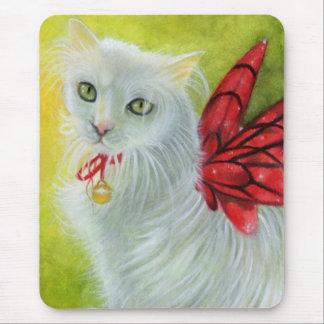 Christmas Kitty Crimson Wings Mousepad
