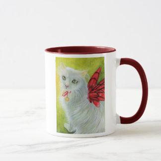 Christmas Kitty Crimson Wings Mug