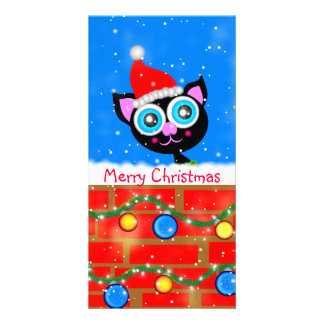 Christmas Kitty Designed Book Mark Card