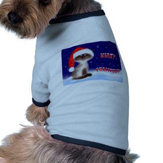 Christmas Kitty Dog T Shirt