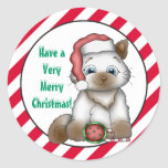 Christmas Kitty Holiday Greetings sticker