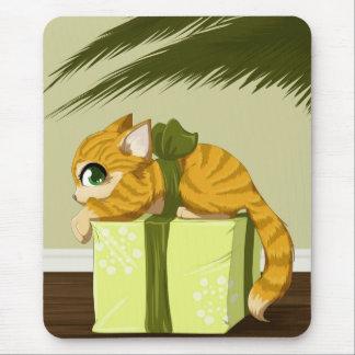 Christmas kitty mouse pad
