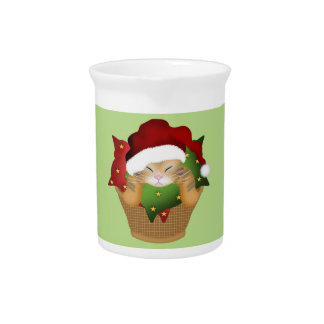 Christmas Kitty Drink Pitcher