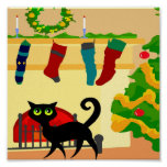 Christmas Kitty Posters