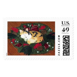 Christmas Kitty Stamp