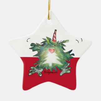Christmas Kiwi Cartoon Star Ornament