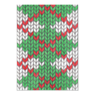 "Christmas Knit Argyle 5"" x 7"" Invitation"