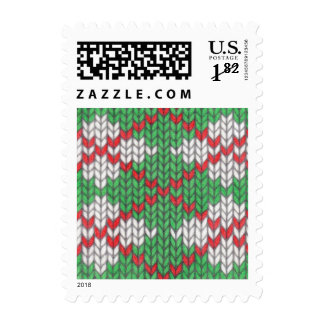 Christmas Knit Argyle 5os Large Envelope Stamps