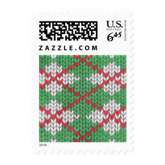 Christmas Knit Argyle Priority Mail Stamps