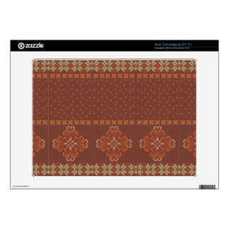Christmas knitted pattern acer chromebook decal