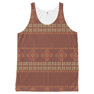 Christmas knitted pattern All-Over-Print tank top