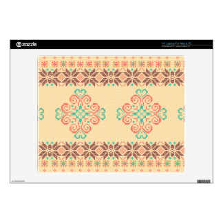 "Christmas knitted pattern decals for 14"" laptops"