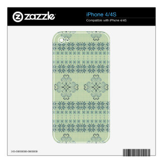 Christmas knitted pattern decals for iPhone 4