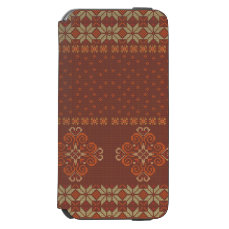 Christmas knitted pattern iPhone 6/6s wallet case