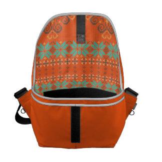 Christmas knitted pattern messenger bag