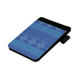 Christmas knitted pattern mini padfolio