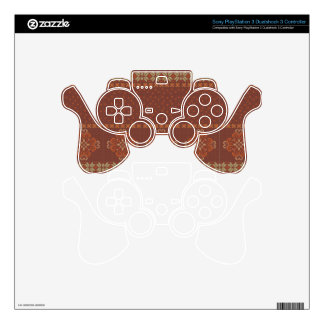 Christmas knitted pattern PS3 controller decals