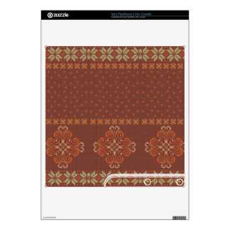 Christmas knitted pattern PS3 slim console decal
