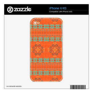 Christmas knitted pattern skin for iPhone 4
